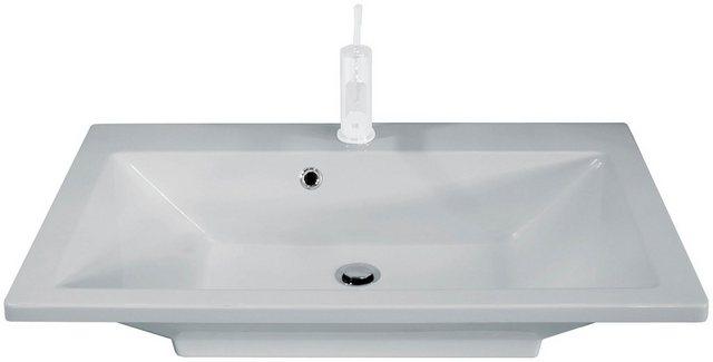 Waschtische - FACKELMANN Einbauwaschbecken »Domino«, Gussmarmor, Breite 80 cm  - Onlineshop OTTO