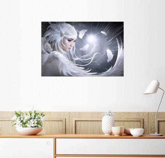 Posterlounge Wandbild - Elena Dudina »White feathers«