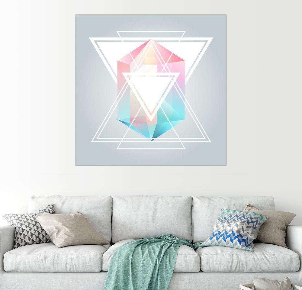 Posterlounge Wandbild »Pastell Triangle«