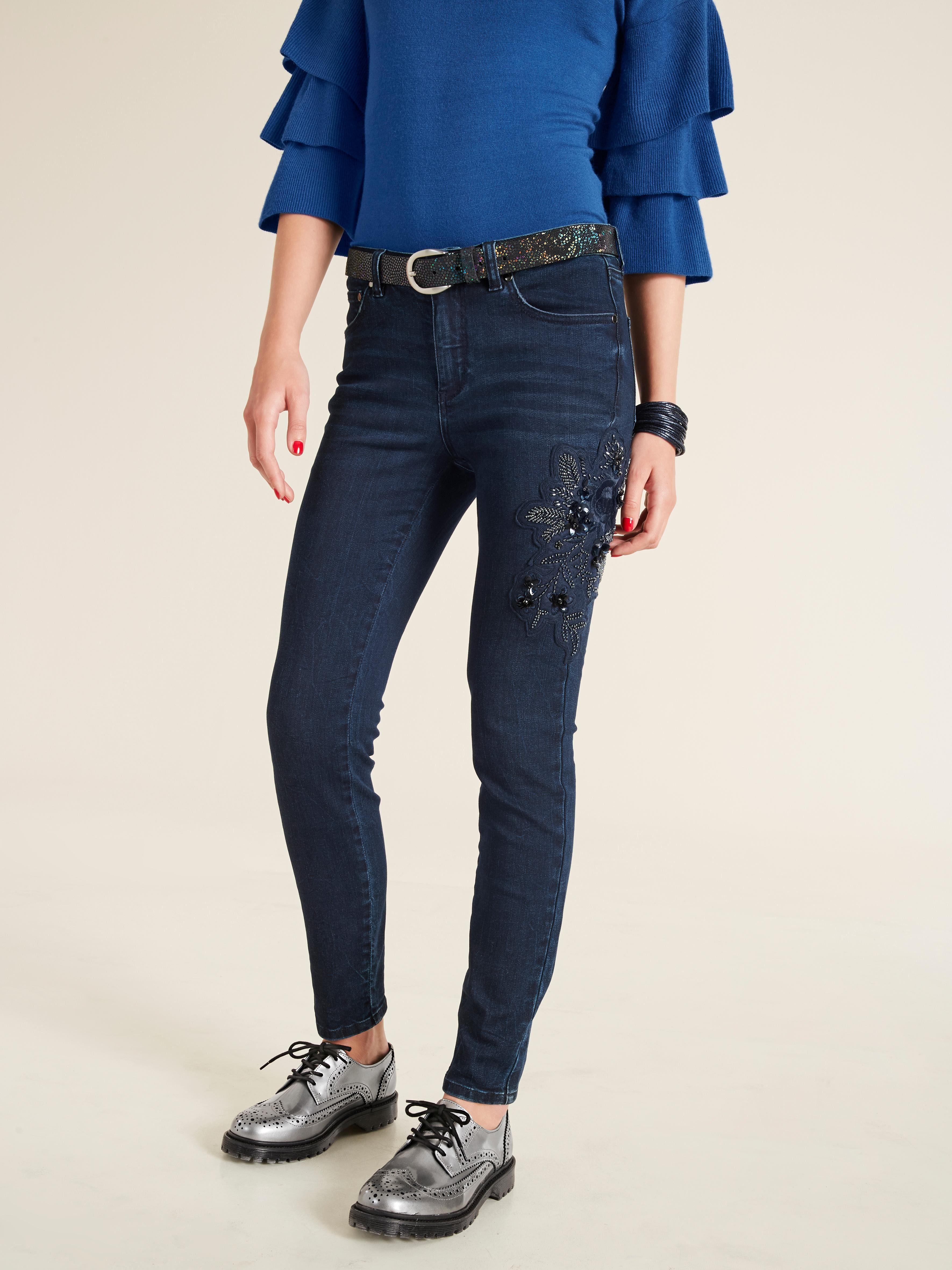 heine STYLE Jeans Mit modischer Applikation