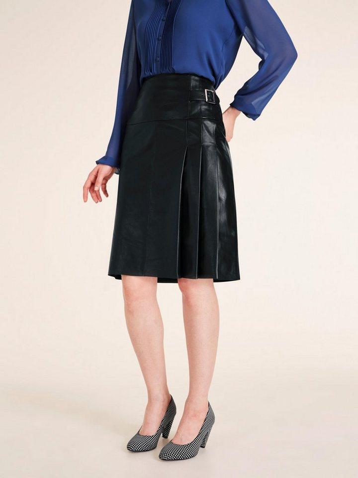 heine -  TIMELESS Lederrock mit breitem Bund und Zierriegel