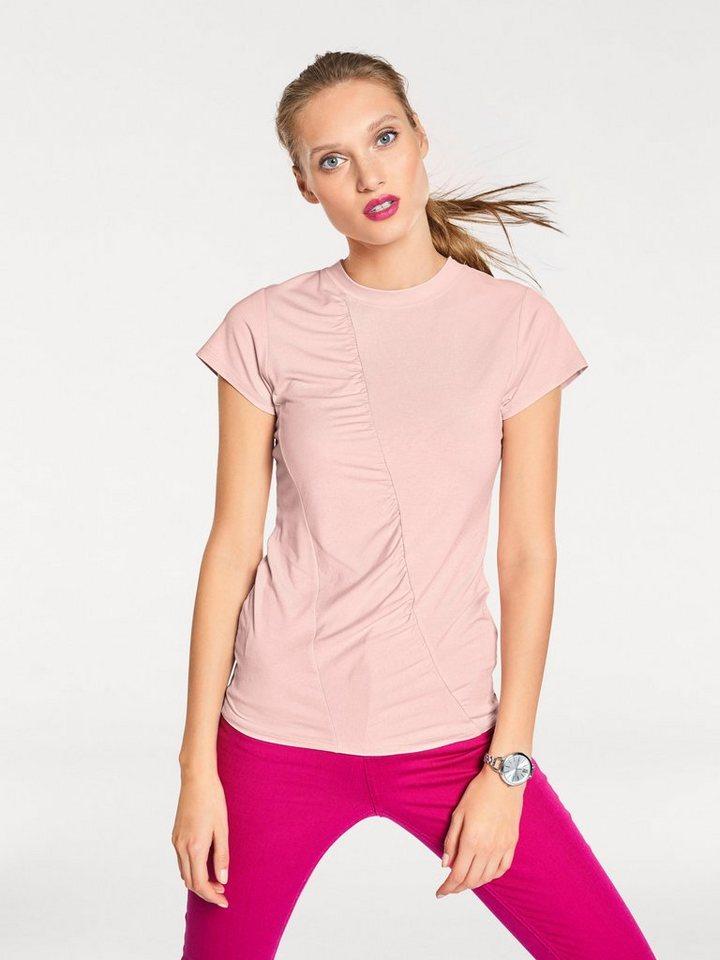 Damen heine  STYLE Shirt mit Raffung rosa | 08698272573401