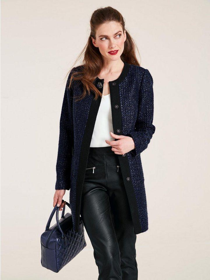 heine TIMELESS Longblazer mit Schmuckbrosche | Bekleidung > Blazer > Longblazer | Blau | heine
