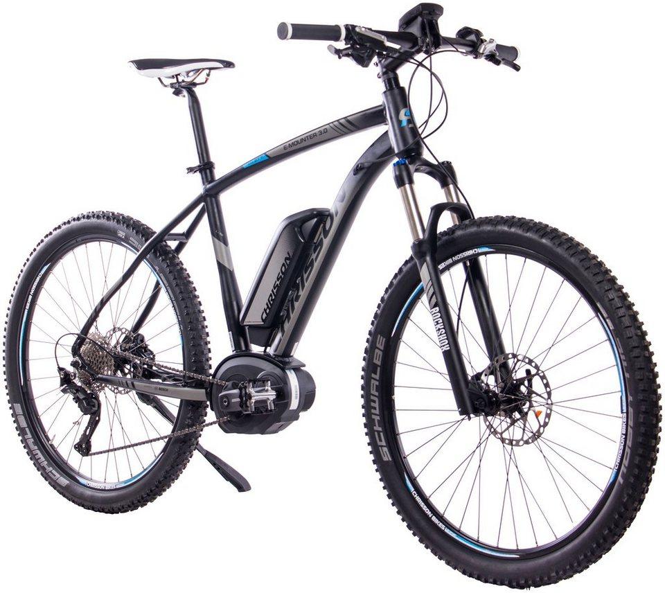 CHRISSON E-Bike Mountainbike »E-Mounter 3.0«, 27,5 Zoll, 10 Gänge ...