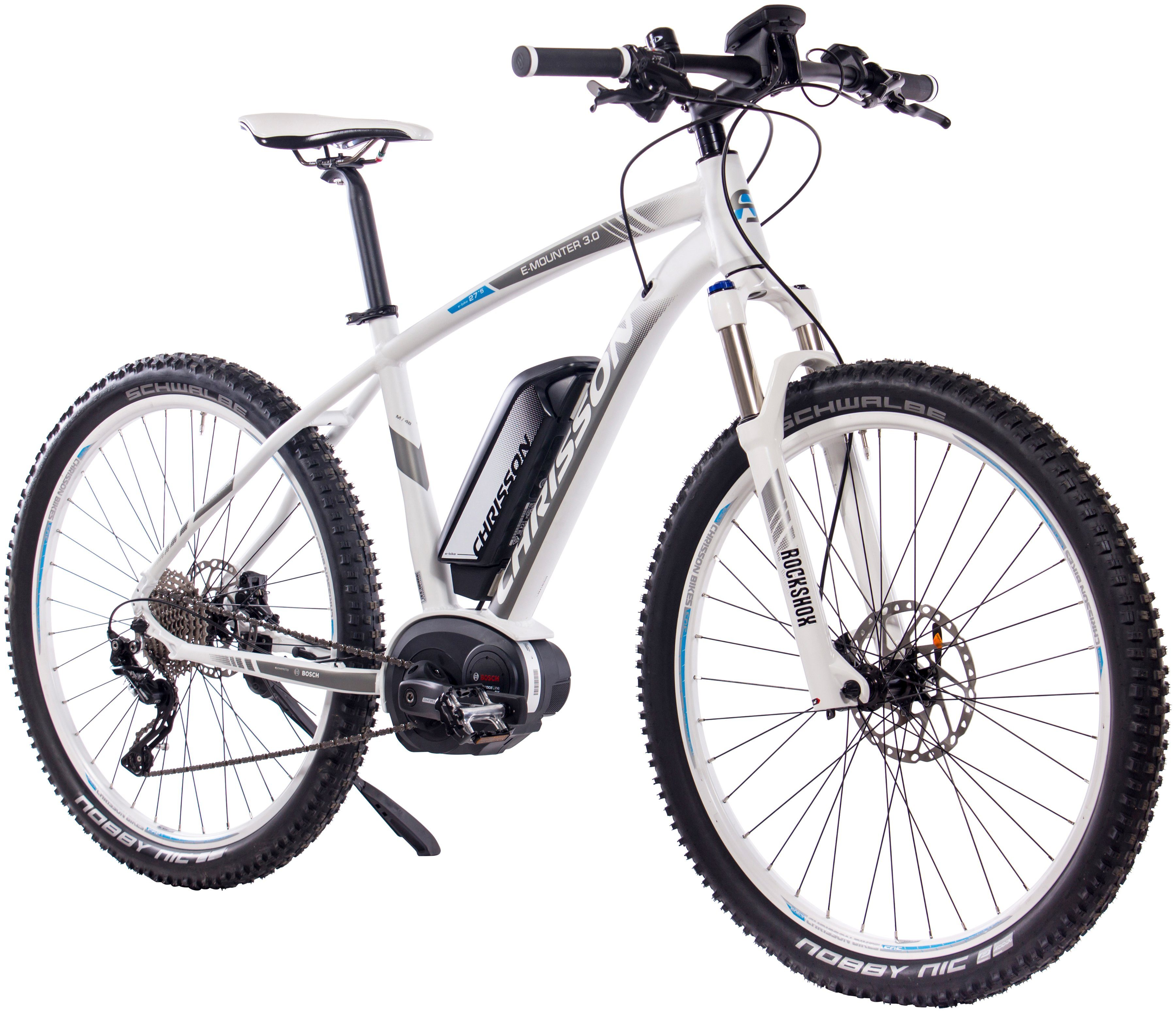 CHRISSON E-Bike Mountainbike »E-Mounter 3.0«, 27,5 Zoll, RH52cm, BOSCH Performance Line CX, 500 Wh