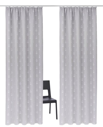 Vorhang »Solana-Anker«, my home, Kräuselband (2 Stück)