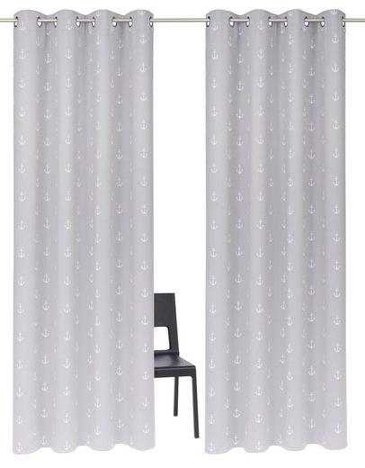 Vorhang »Solana-Anker«, my home, Ösen (2 Stück)