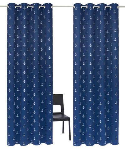 Vorhang »Solana Anker«, My Home, Ösen (2 Stück)