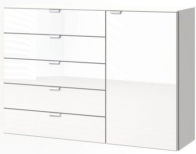 Express Solutions Kombikommode, Breite 130 cm   Wohnzimmer > Schränke > Kommoden   Weiß   Express Solutions