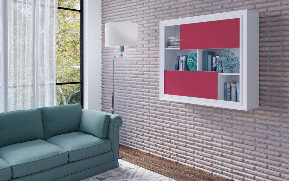 h ngeschrank h he 100 cm dekorative rahmenoptik online kaufen otto. Black Bedroom Furniture Sets. Home Design Ideas