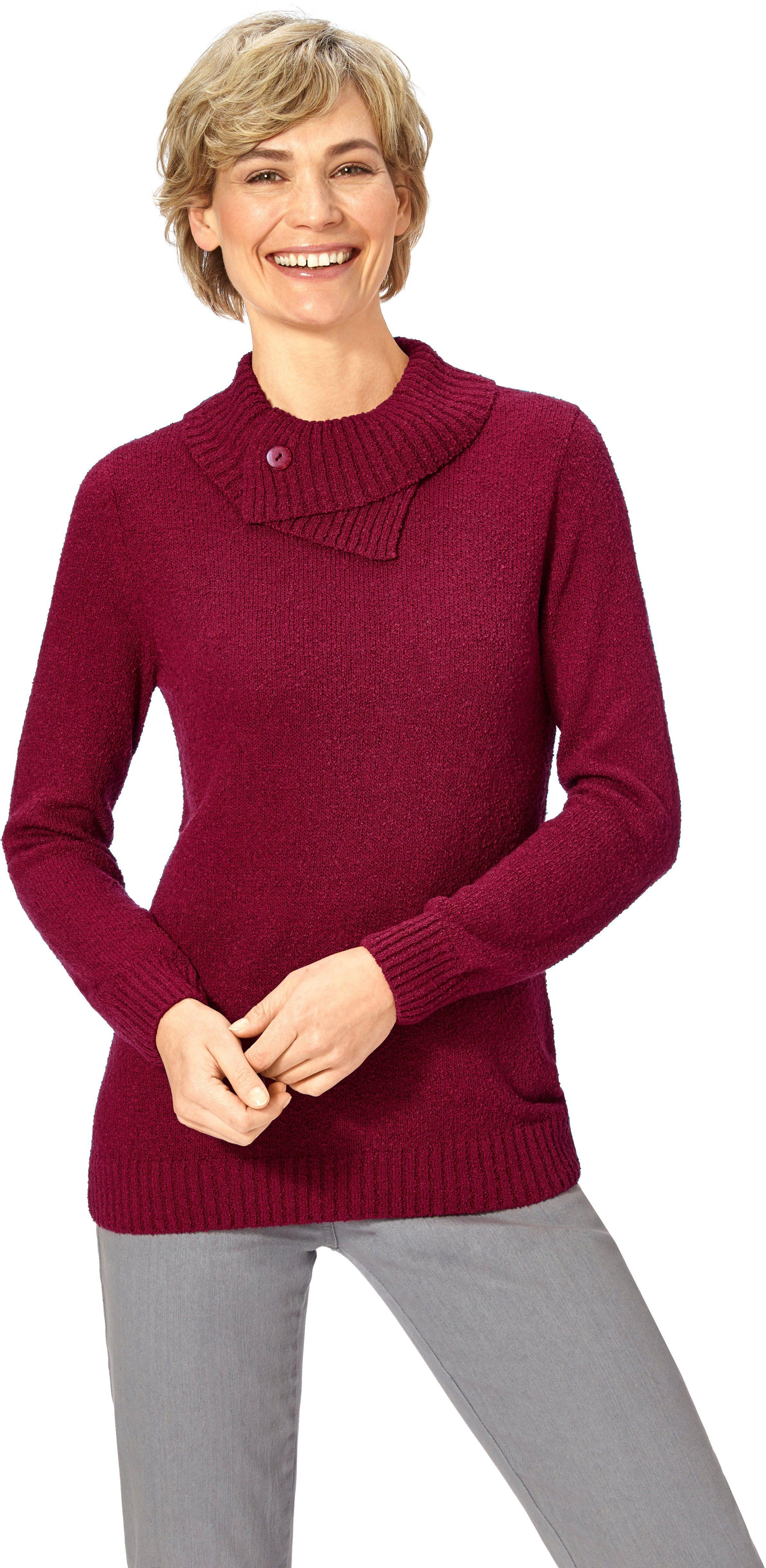 Classic Basics Pullover mit überlappendem Rollkragen