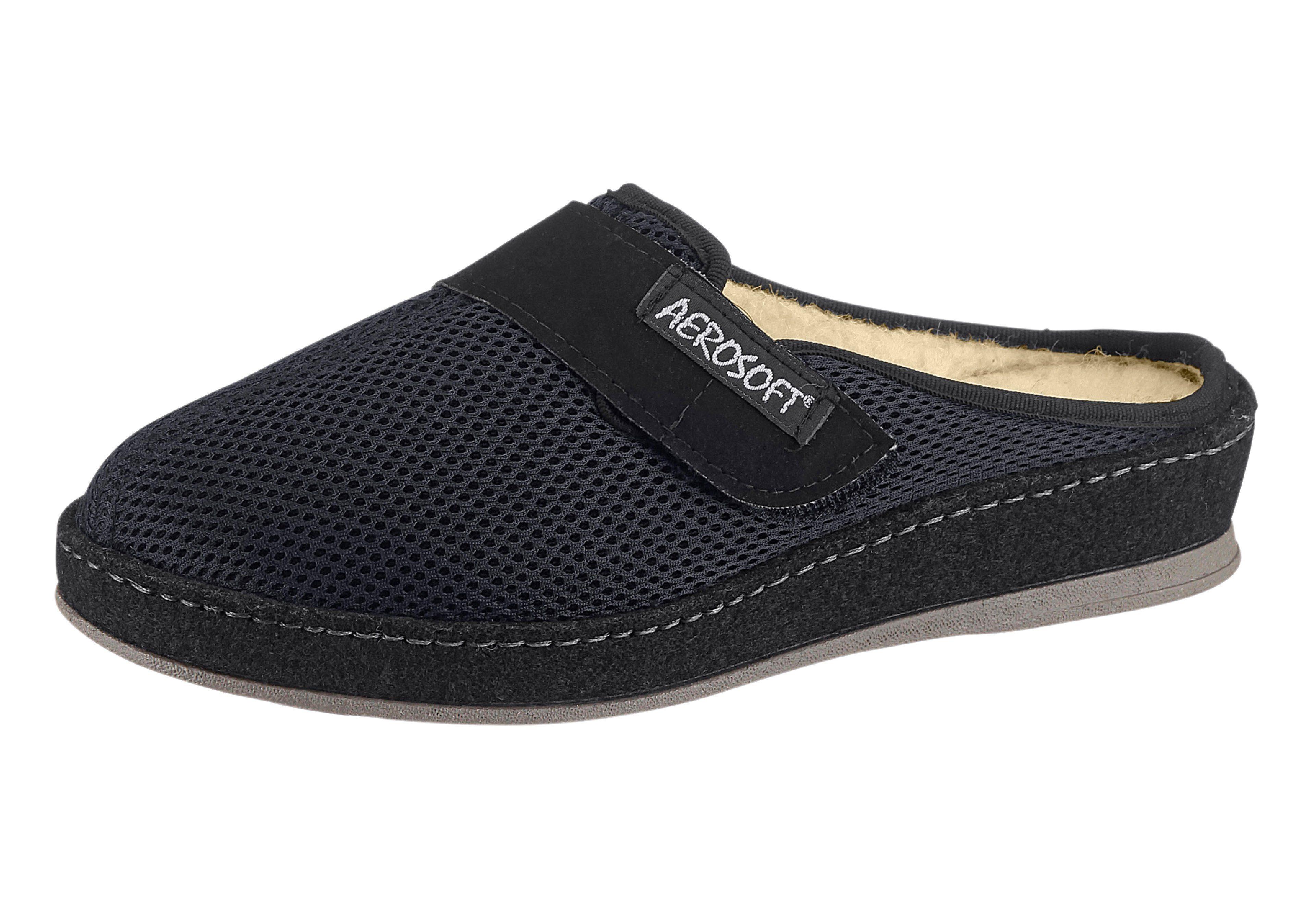 Aerosoft Pantoffel mit flexibler und rutschhemmender PVC-Laufsohle online kaufen  schwarz