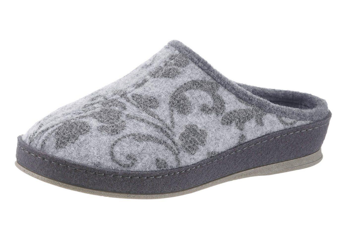 Schawos Pantoffel mit Fersendämpfung | Schuhe > Hausschuhe > Pantoffeln | Grau | Filz | SCHAWOS