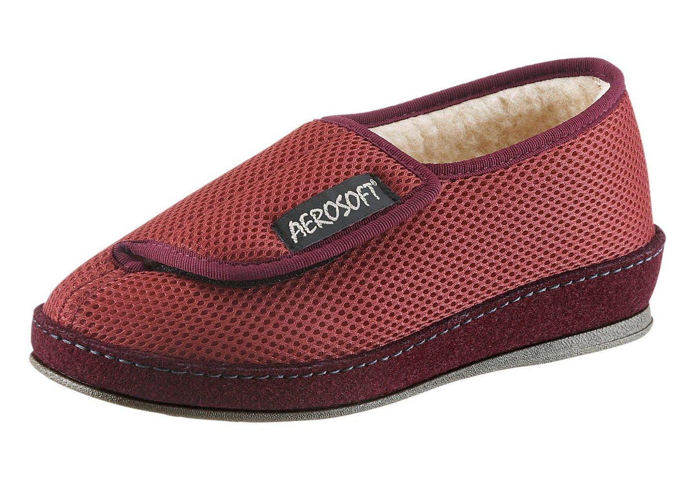 Aerosoft Hausschuh mit rutschhemmender PVC-Laufsohle | Schuhe > Hausschuhe > Klassische Hausschuhe | Rot | Classic