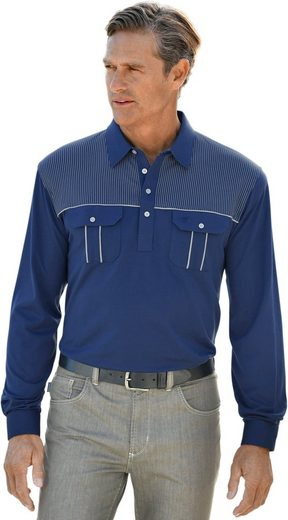 Hajo Langarm-Poloshirt in atmungsaktiver »stay fresh«-Qualität