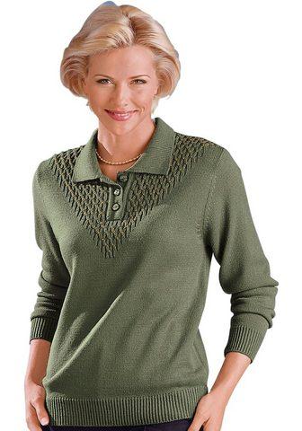 CLASSIC Polo megztinis su goldfarbenen Dekorat...