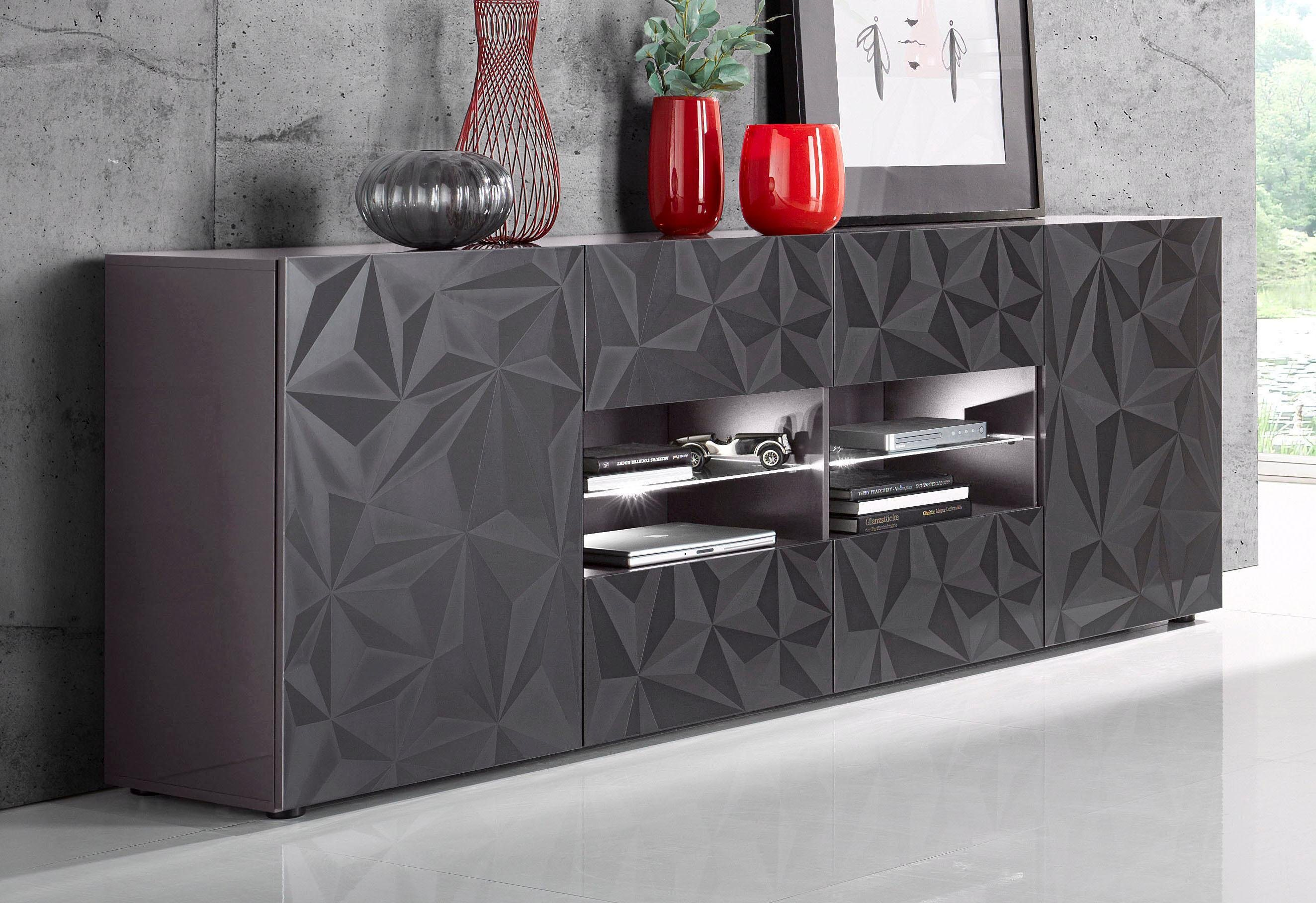 rot hochglanz sideboards online kaufen m bel suchmaschine. Black Bedroom Furniture Sets. Home Design Ideas