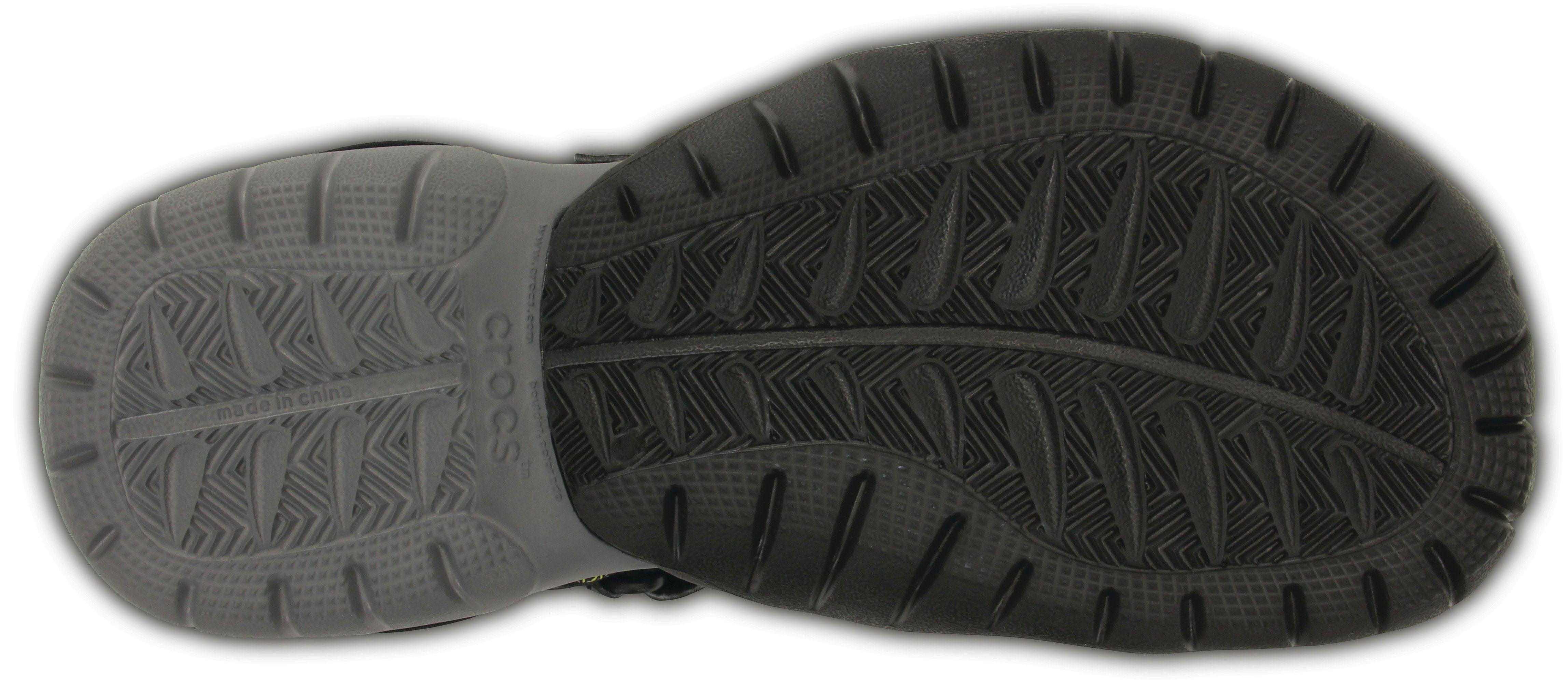 Crocs Sandale, mit praktischem Klettverschluss  schwarz