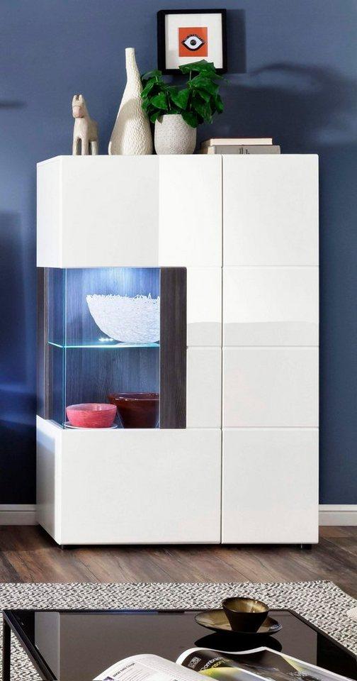 trendteam vitrine tokyo h he 142 cm kaufen otto. Black Bedroom Furniture Sets. Home Design Ideas