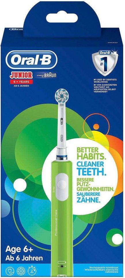 Oral B Elektrische Zahnburste Junior Green Aufsteckbursten 1 St Online Kaufen Otto