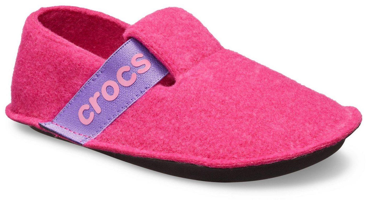 Crocs Hausschuh mit doppeltem Klettverschluss   Schuhe > Hausschuhe > Klassische Hausschuhe   Rosa   Crocs