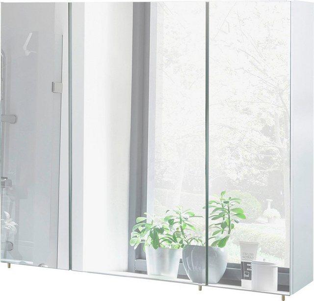 Spiegel - Schildmeyer Spiegelschrank »Basic« Breite 90 cm, 3 türig, Glaseinlegeböden, Made in Germany  - Onlineshop OTTO