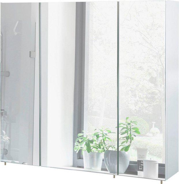 Spiegel - Schildmeyer Spiegelschrank »Basic« Breite 80 cm, 3 türig, Glaseinlegeböden, Made in Germany  - Onlineshop OTTO