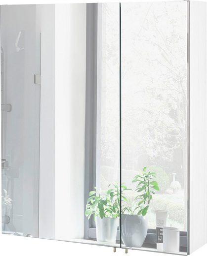 Schildmeyer Spiegelschrank »Basic« Breite 60 cm, mit 2 Türen und Glaseinlegeböden