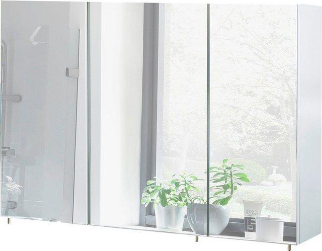 Spiegel - Schildmeyer Spiegelschrank »Basic« Breite 120 cm, 3 türig, Glaseinlegeböden, Made in Germany  - Onlineshop OTTO