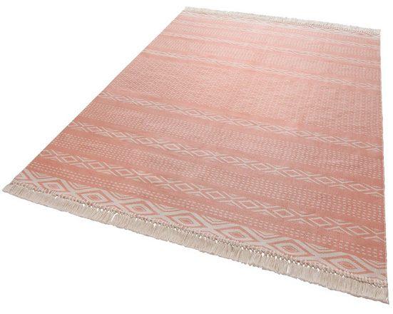 Teppich »Hatice«, andas, rechteckig, Höhe 3 mm, Pastell-Farben