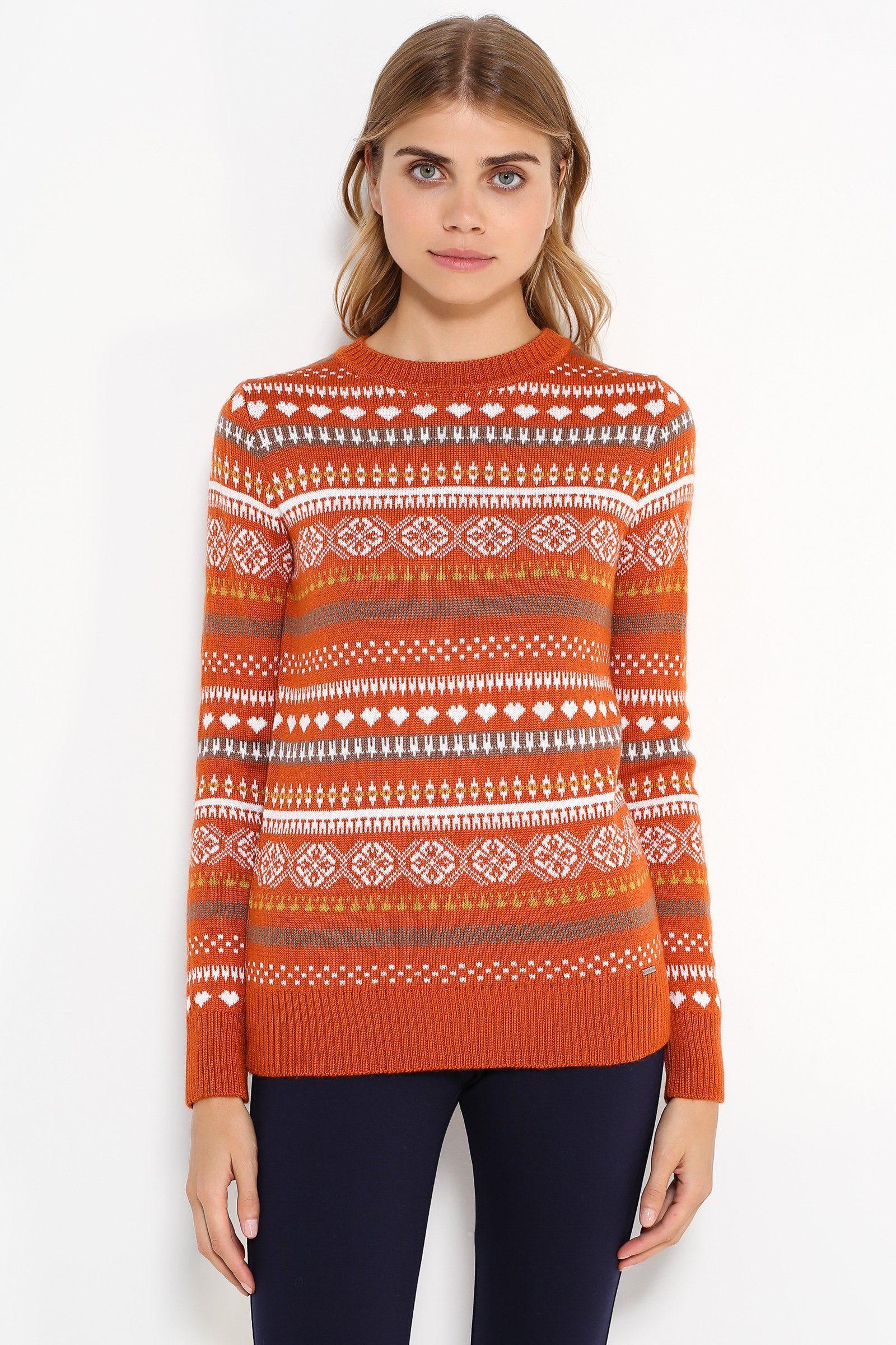 Finn Flare Pullover mit auffälligem Muster