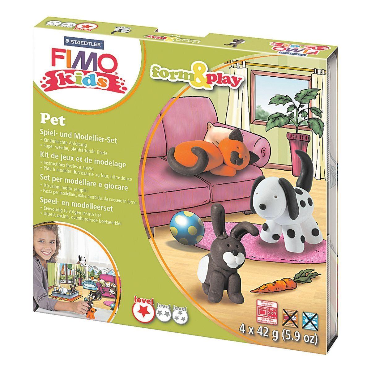 STAEDTLER Modelliermasse »FIMO Kids Pet«