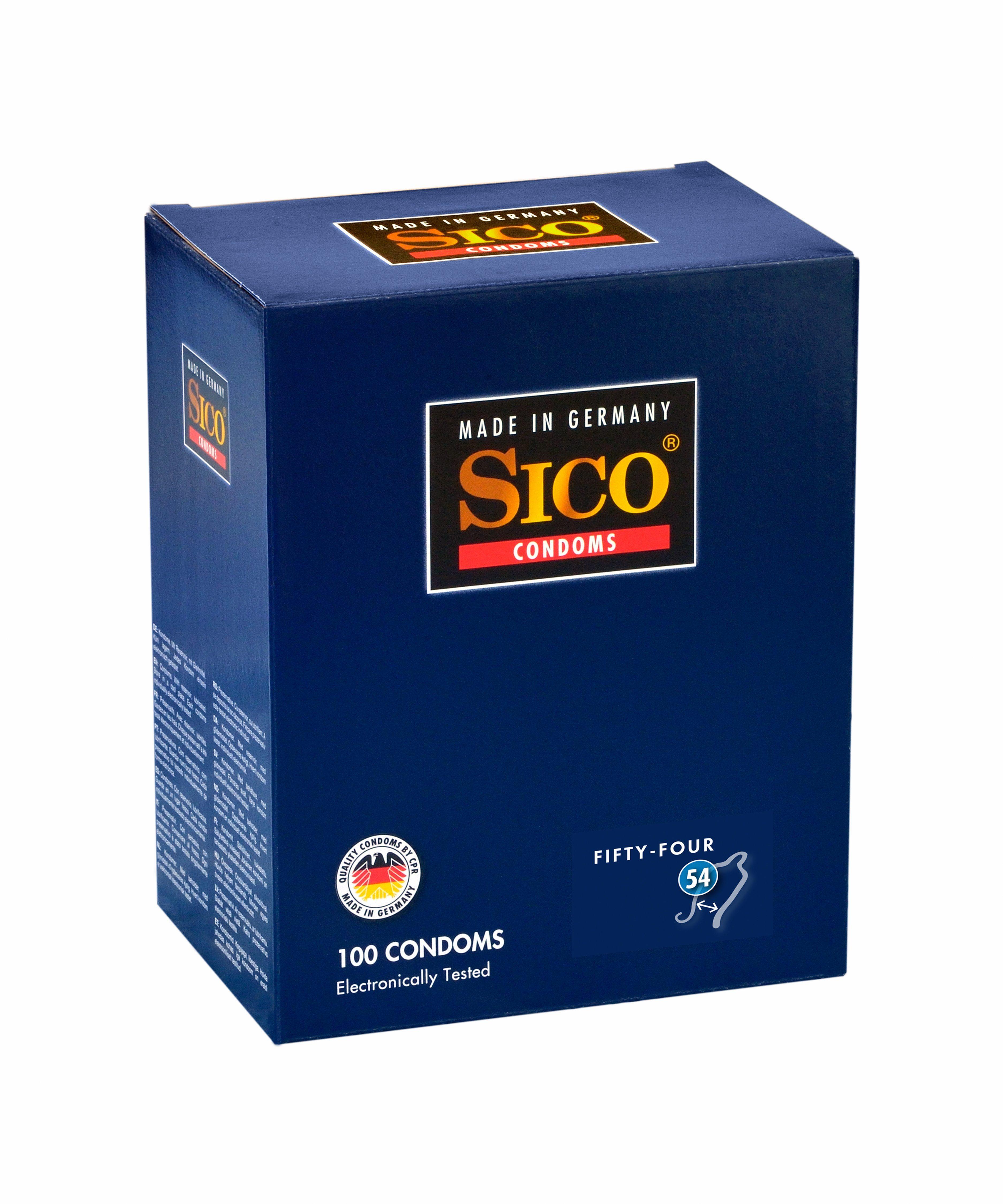 SICO Size Kondome made in Germany »Size 54, 100er Box«