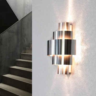 Licht-Erlebnisse Wandleuchte »CAMILLO«, Design Wandlampe exklusiv Aluminium Lichtmuster Treppe Flur Lampe