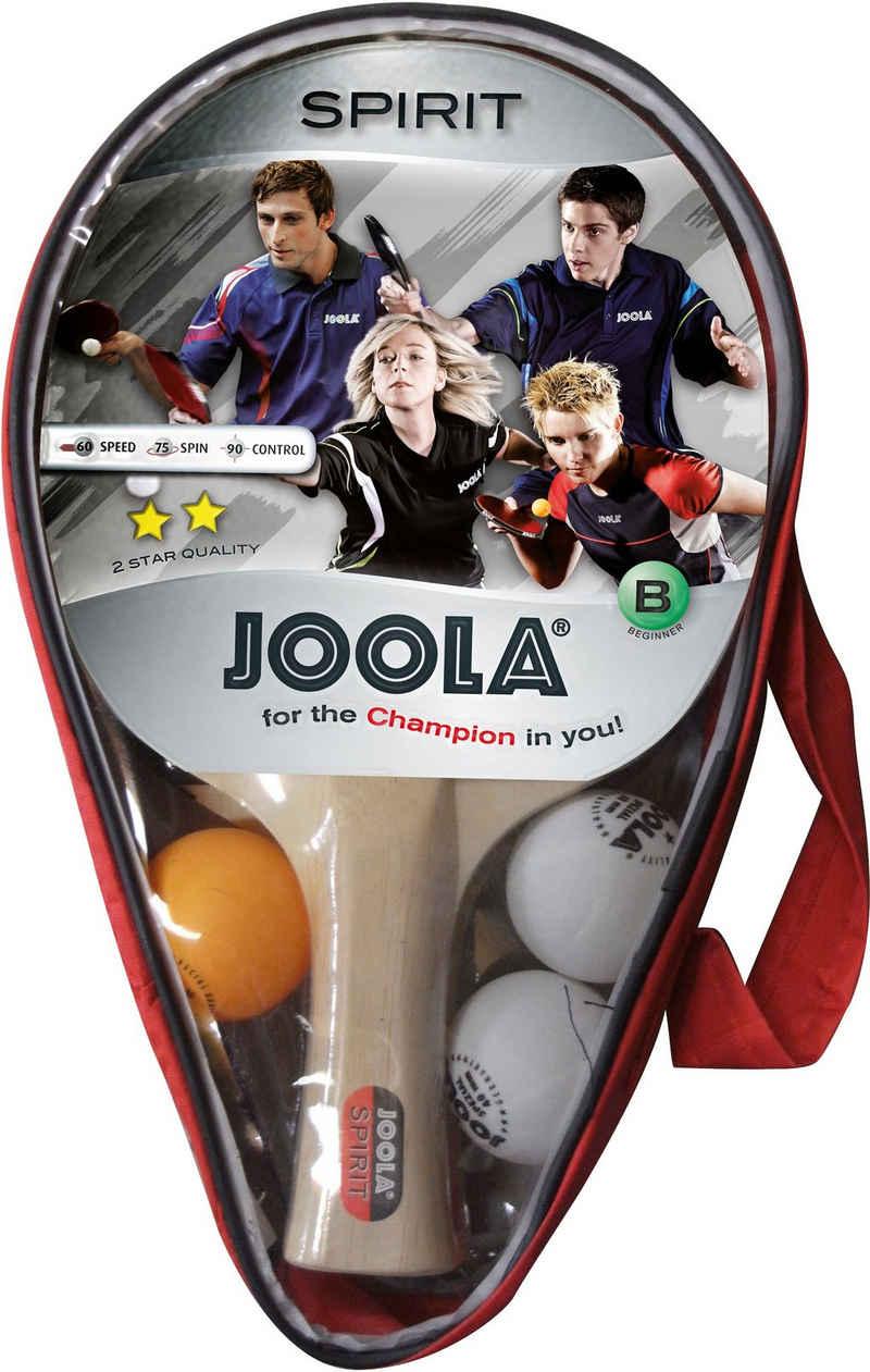 Joola Tischtennisschläger »Carat / Spirit« (Set, 6-tlg., mit Bällen, mit Schlägerhülle, mit Tasche)