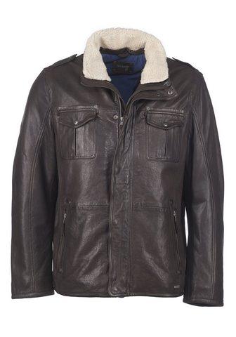 Куртка кожаная с съемный Fellkragen &r...