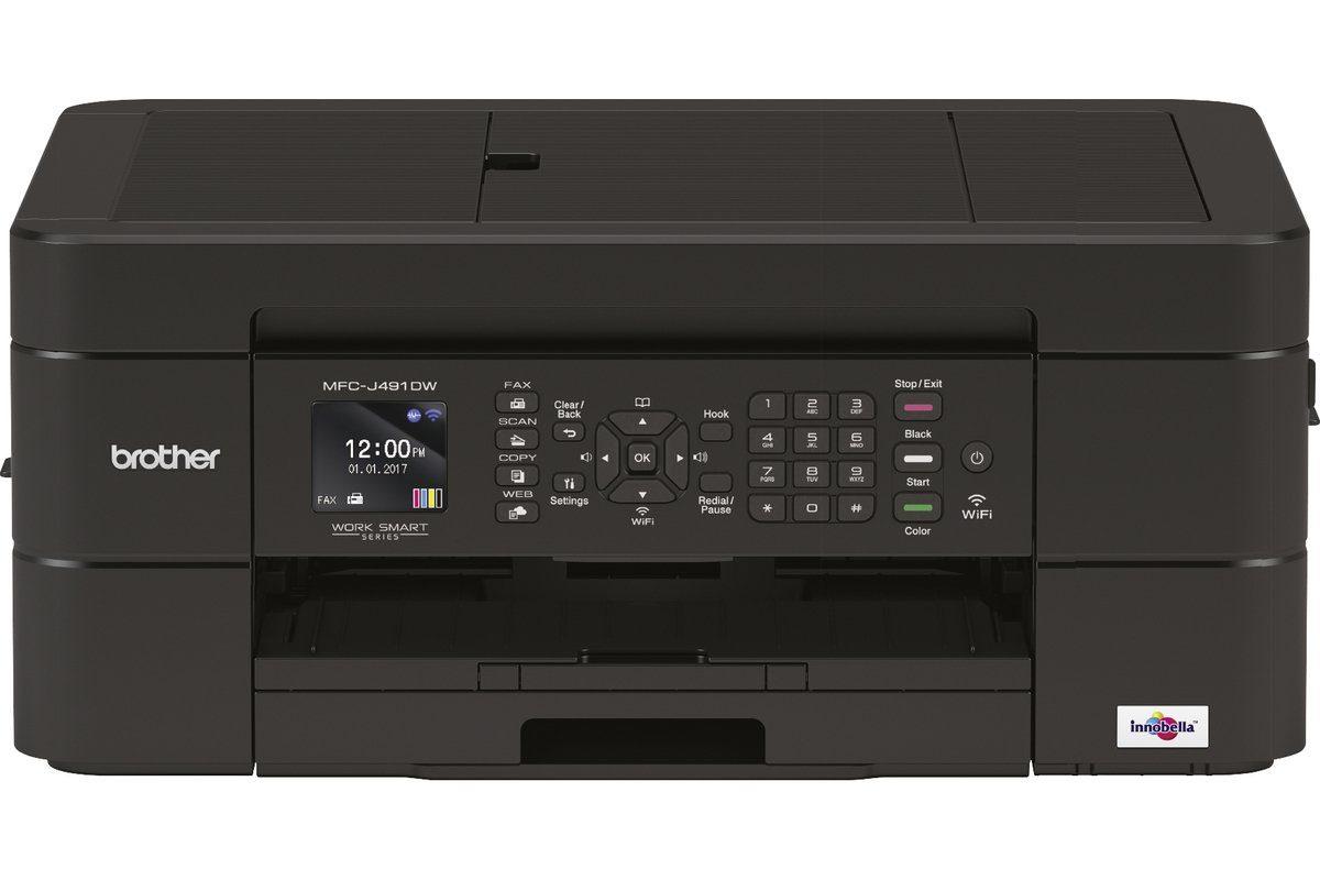 Brother Tintenstrahl-Multifunktionsdrucker »MFC-J491DW 4in1 Multifunktionsdrucker«