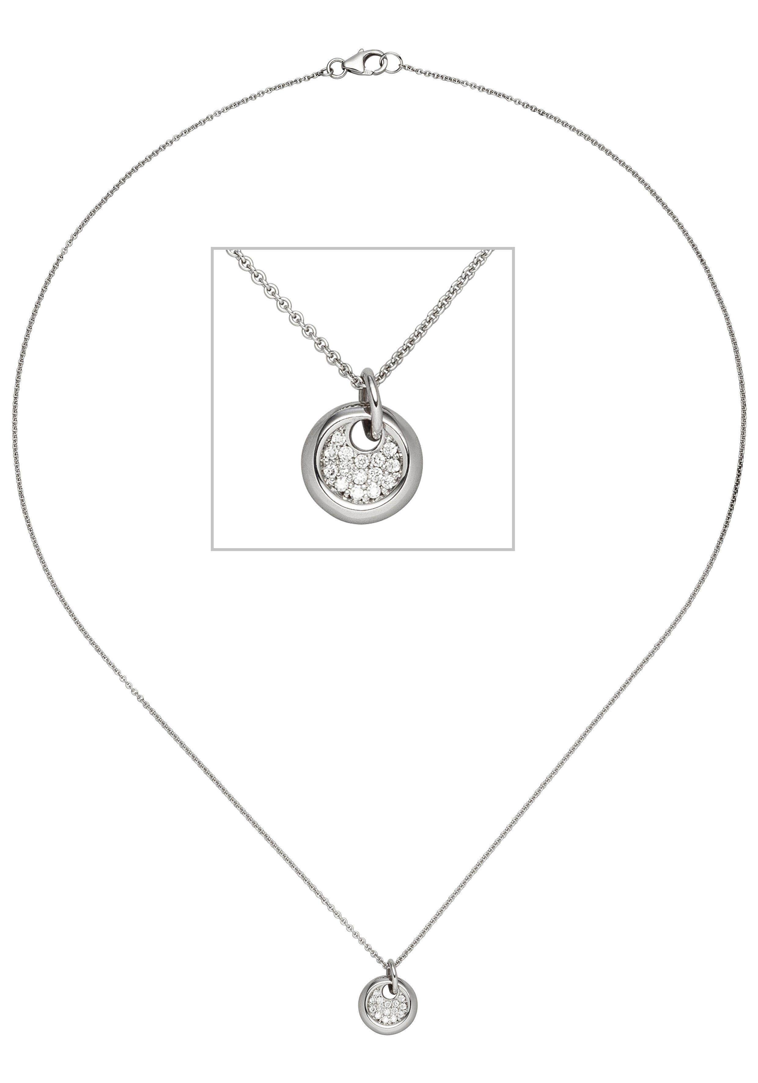 Weißgold Diamanten Online Kaufen Jobo Mit 585 15 Kette Cm Anhänger 43 F1culKJT3