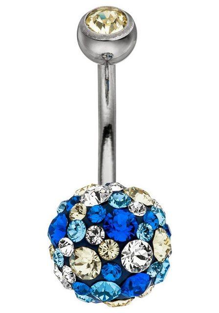 JOBO Bauchnabelpiercing Titan und 925 Silber mit SWAROVSKI® ELEMENTS | Schmuck > Piercings | JOBO