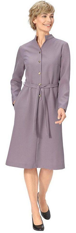 Damen Classic Basics Kleid mit markanten Schmuckknöpfen  | 05425023249697