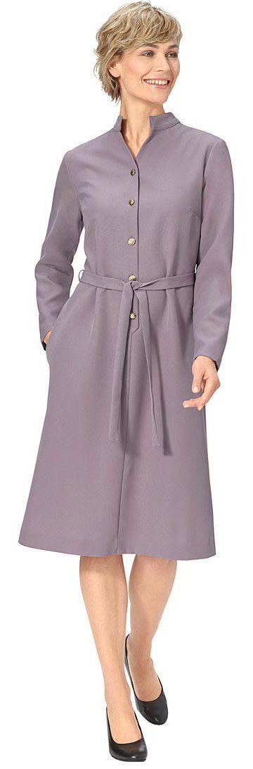 Classic Basics Kleid mit markanten Schmuckknöpfen