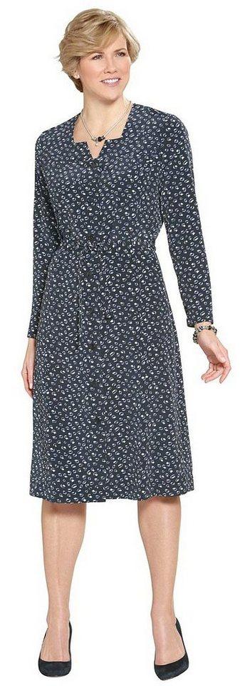 Damen Classic Basics Jersey-Kleid mit außergewöhnlichem Druck blau | 05425023246795