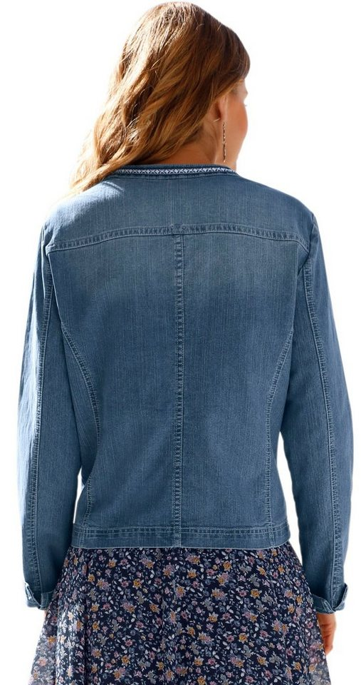 Classic Inspirationen Jeans-Jacke mit besticktem Zierband
