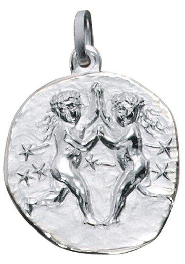 JOBO Sternzeichenanhänger, Sternzeichen Zwilling 925 Silber