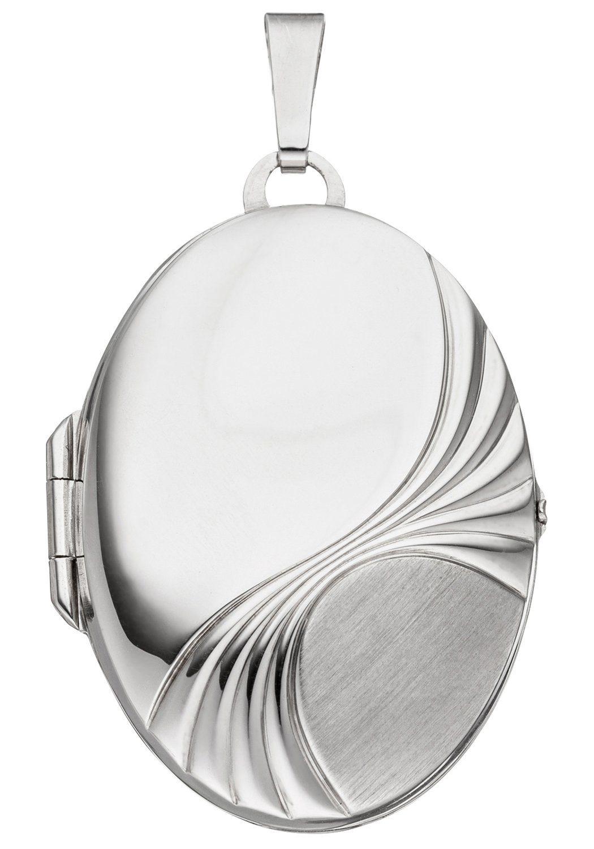 JOBO Medallionanhänger »Medaillon oval« oval 925 Silber