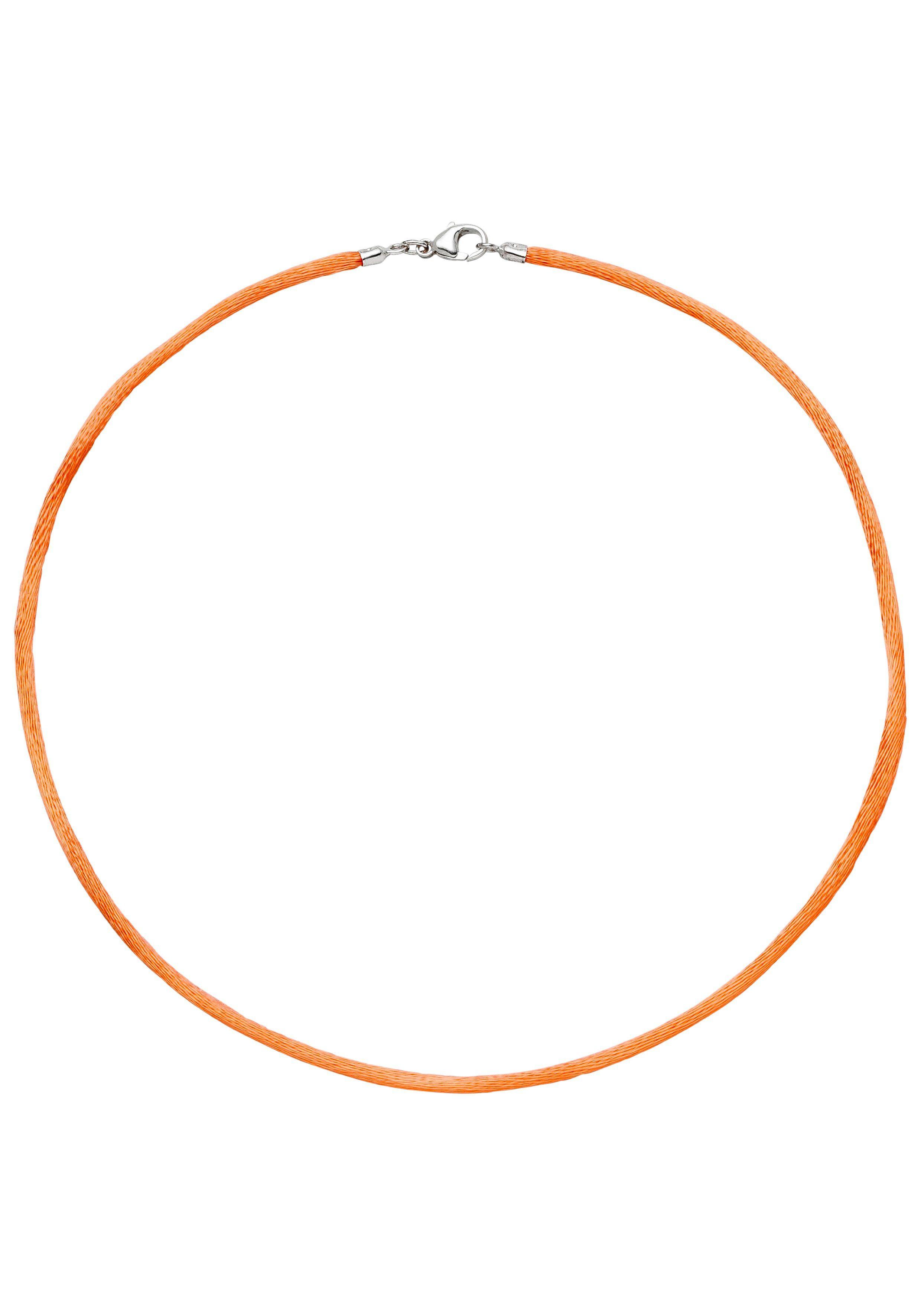 JOBO Kette ohne Anhänger »Seidenkette« Seidenkette orange 42 cm