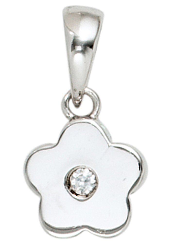 JOBO Blumenanhänger »Blume« 925 Silber mit Zirkonia