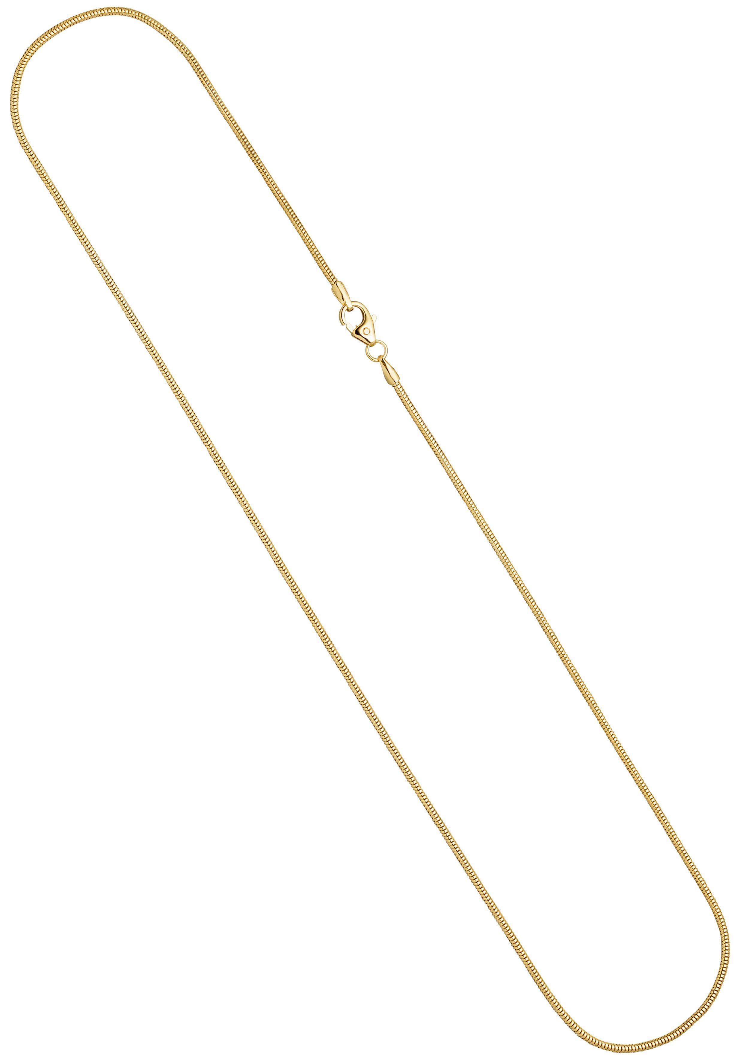 36cm 1,1mm Rund-Ankerkette aus 750 Gold Weißgold Kette Collier Halskette