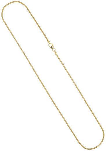 JOBO Goldkette, Schlangenkette 585 Gold 50 cm 1,6 mm