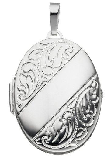 JOBO Medallionanhänger »Medaillon« oval 925 Silber